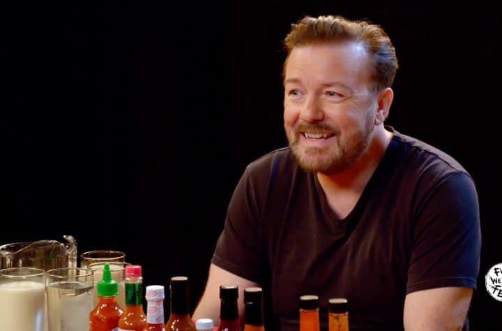 Ricky Gervais, hot wing challenge