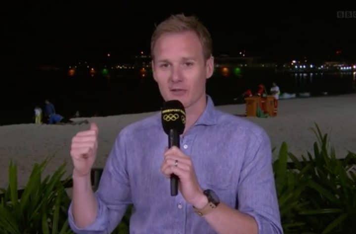Dan Walker reports that a couple was reading a book and not having sex on a Rio beach