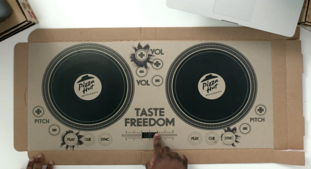 Pizza Hut turntable boxes