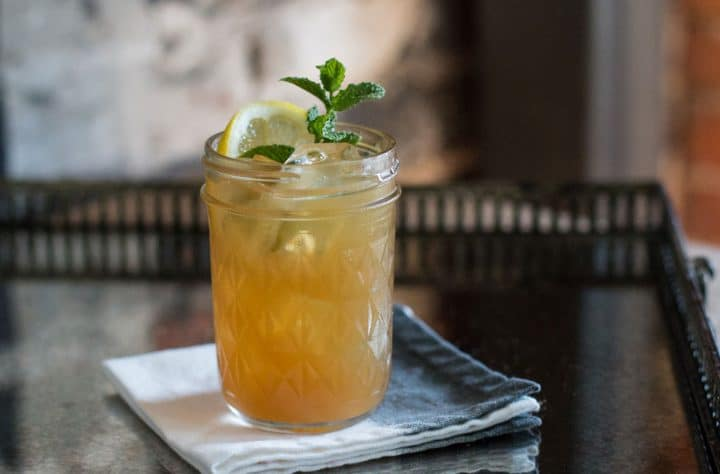 southern style whiskey punch