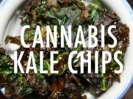cannabis kale chips