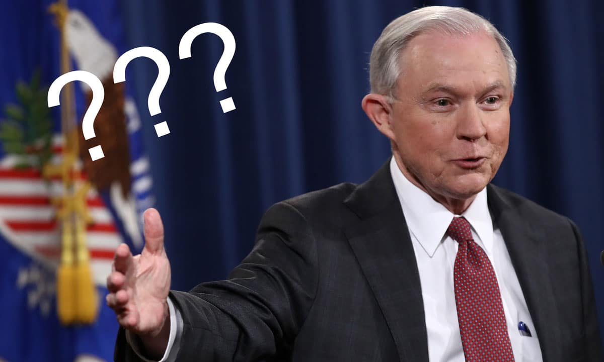 So, Yesterday Jeff Sessions Said Marijuana Is 'Only Slightly Less Awful' Than Heroin