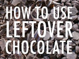 Leftover chocolate