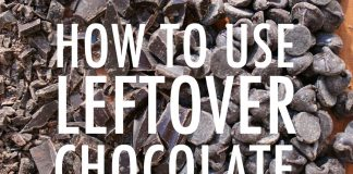 Leftover chocolate