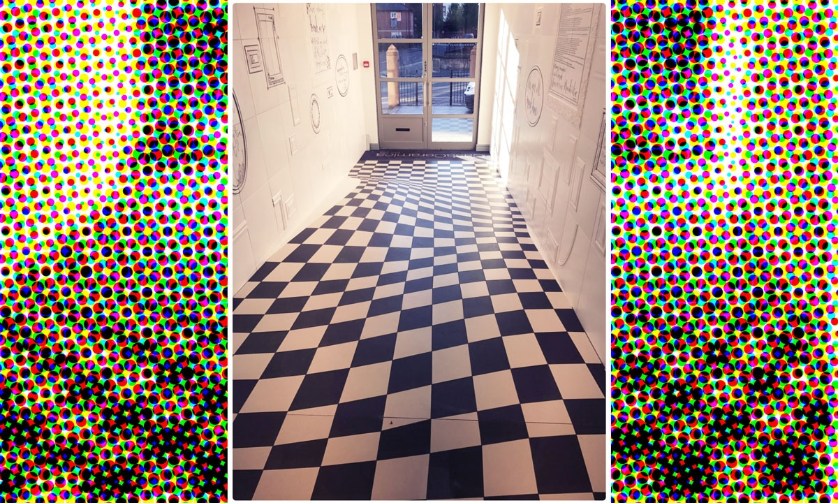 This tile floor is an optical illusion that will blow your for Floor illusions