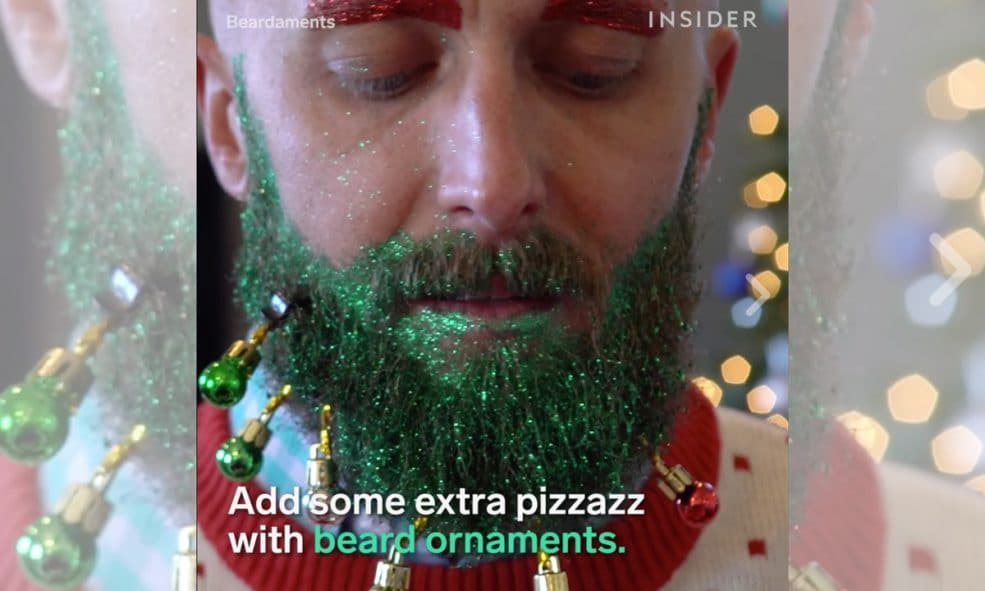 watch this company will decorate your beard for christmas - Christmas Beard