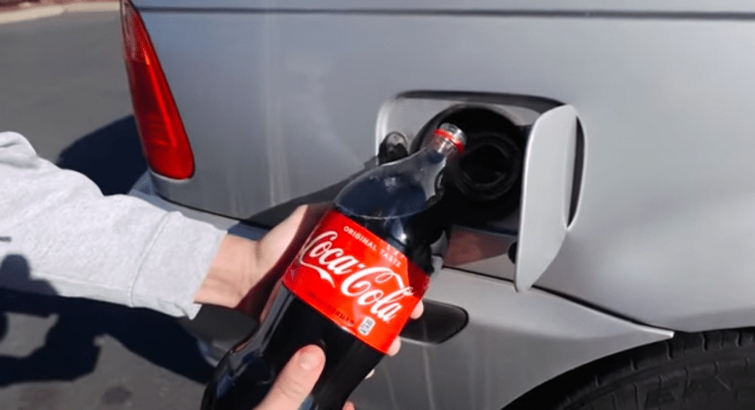 Gas Tank With Coke