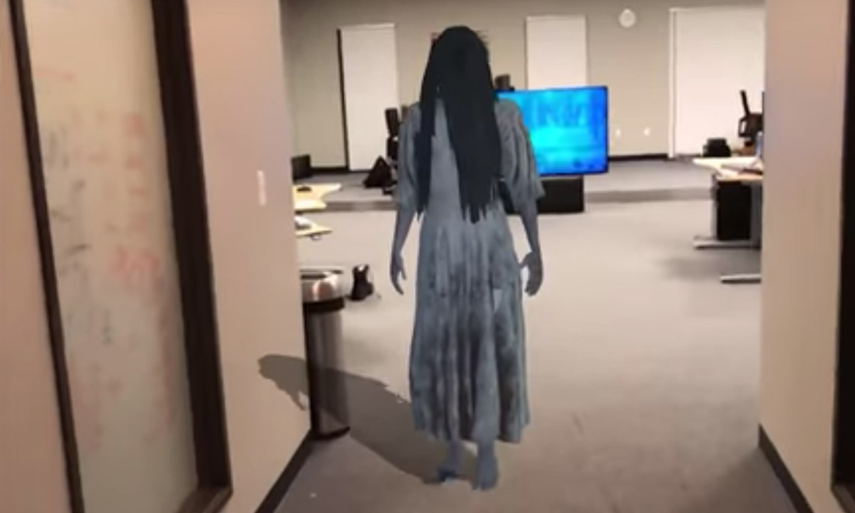 Watch The Girl From 'The Ring' Actually Crawl Out Of A TV