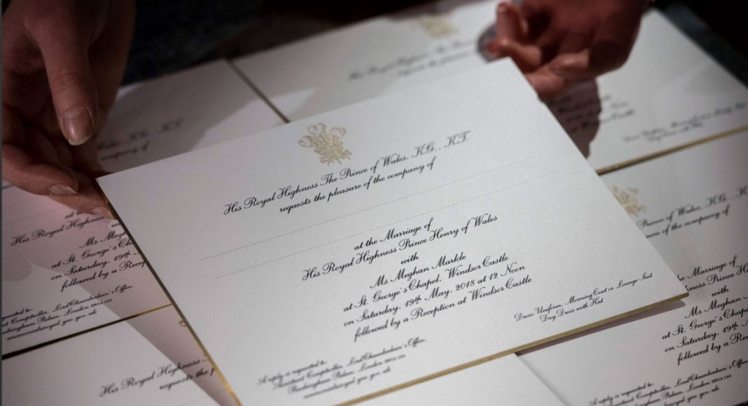 Take A Peek At Meghan Markle And Prince Harry's Wedding Invitations