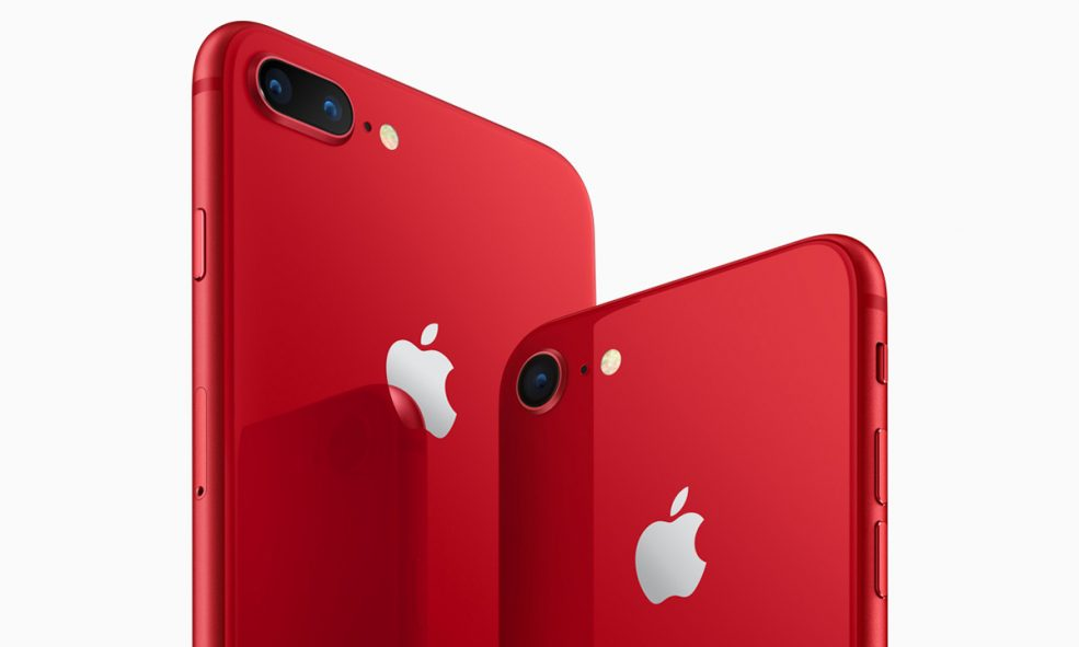 Apple Announces New Red iPhone 8 and 8 Plus