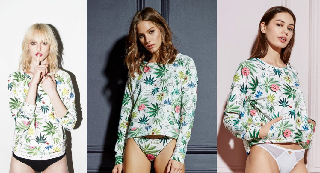 Luxe Lingerie Cannabis Print Collection