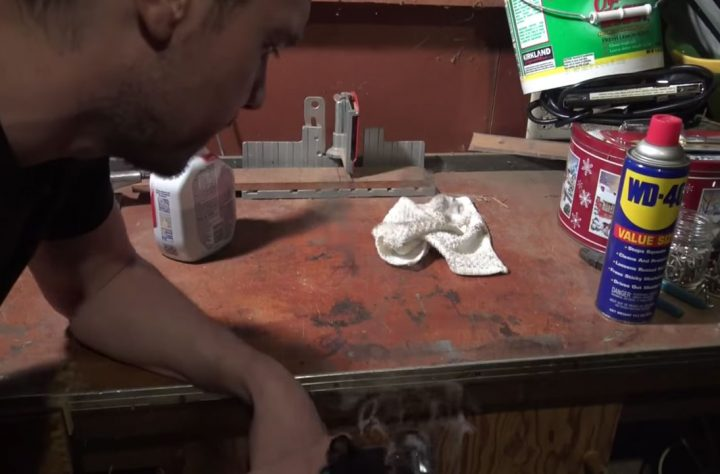 Watch This Guy Remove A Tough Stain With Marijuana