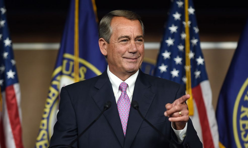 Former House Speaker Boehner Now Wants Feds to Legalize Marijuana