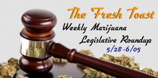 The Fresh Toast Marijuana Legislative Roundup: June 5