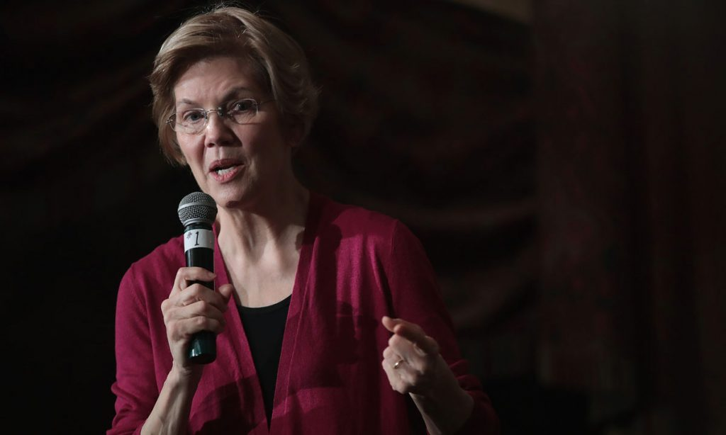 where does presidential candidate elizabeth warren stand on marijuana