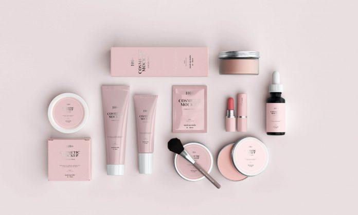 pink and black makeup brush set